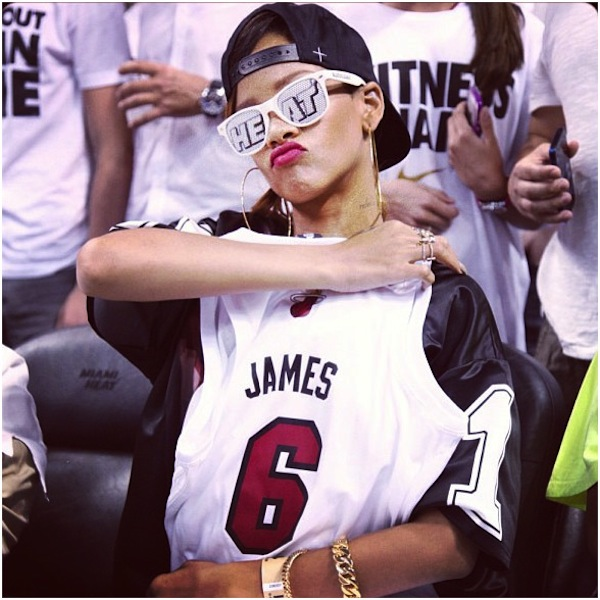Possible Reason Why Rihanna Was Screaming 鈥淟eBron!鈥?Outside Cavs