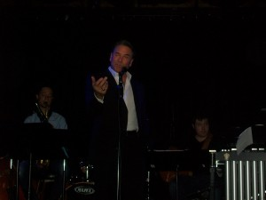 Jazz big band singer Steven Davis performing from his new album 'What Happened to Romance' at Molly Malone's in Los Angeles. (Photo credit: Eunice Moseley).