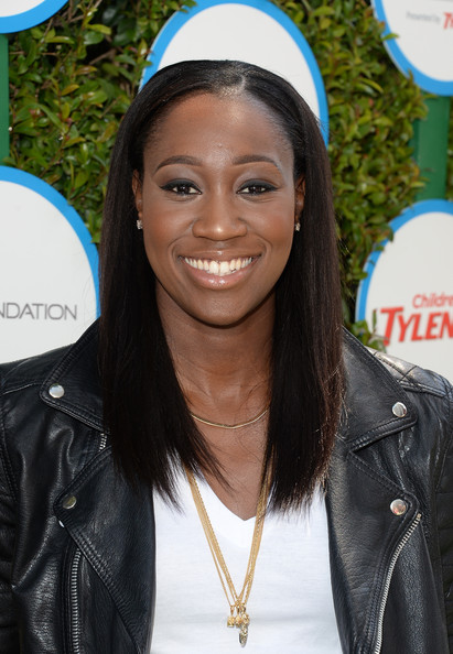 Tina Charles attends the Safe Kids Day at The Lot on April 5, 2014 in West Hollywood, CA.