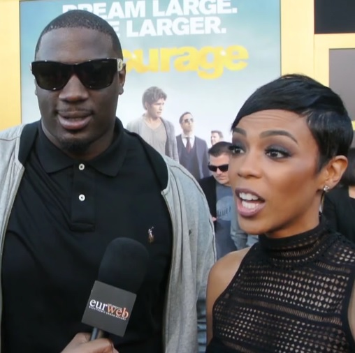 Donovan W. Carter & Jazmyn Simon at 'Entourage' premiere