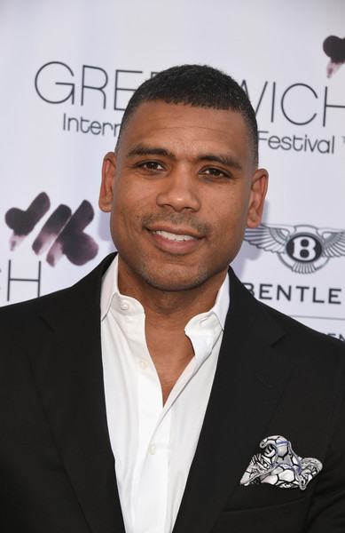 Basketball player Allan Houston attends Greenwich Film Festival 2015 - Sports Guys On Sports Movies Premiere & After Party at Cole Auditorium at Greenwich Library on June 4, 2015 in Greenwich, Connecticut