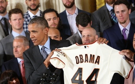 barack obama sf giants