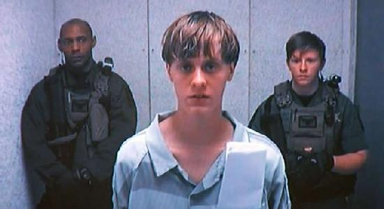 dylann roof - with guards