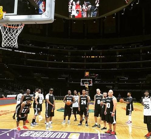 kanye west & his boys at staples