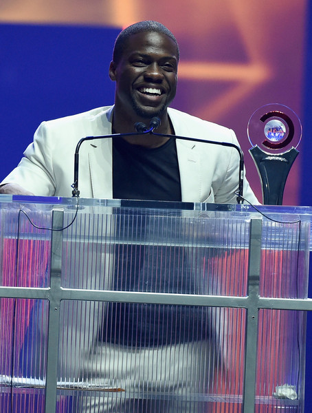 """Actor Kevin Hart accepts the """"CinemaCon Comedy Star Of The Year Award"""" onstage during The CinemaCon Big Screen Achievement Awards Brought to you by The Coca-Cola Company at OMNIA Nightclub at Caesars Palace during CinemaCon, the official convention of the National Association of Theatre Owners, on April 23, 2015 in Las Vegas, Nevada"""