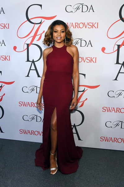 Taraji P. Henson poses on the winners walk at the 2015 CFDA Fashion Awards at Alice Tully Hall at Lincoln Center on June 1, 2015 in New York City