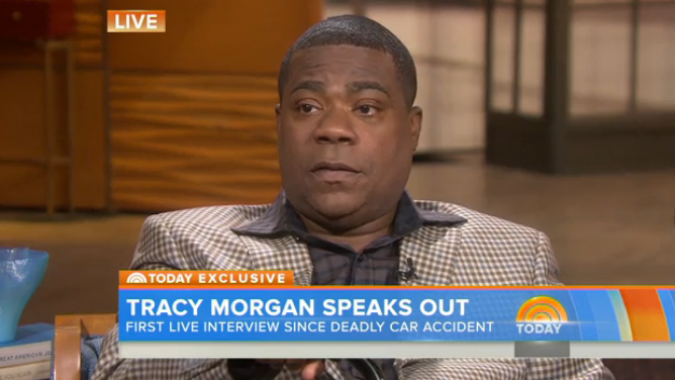 Tracy Morgan appears on Monday's 'Today' Show