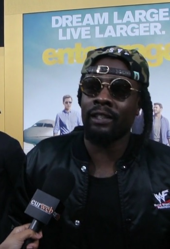 "Wale at ""Entourage"" premiere"