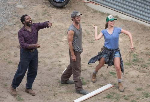 "Chiwetel Ejiofor, Chris Pine and Margot Robbie in ""Z for Zachariah"""