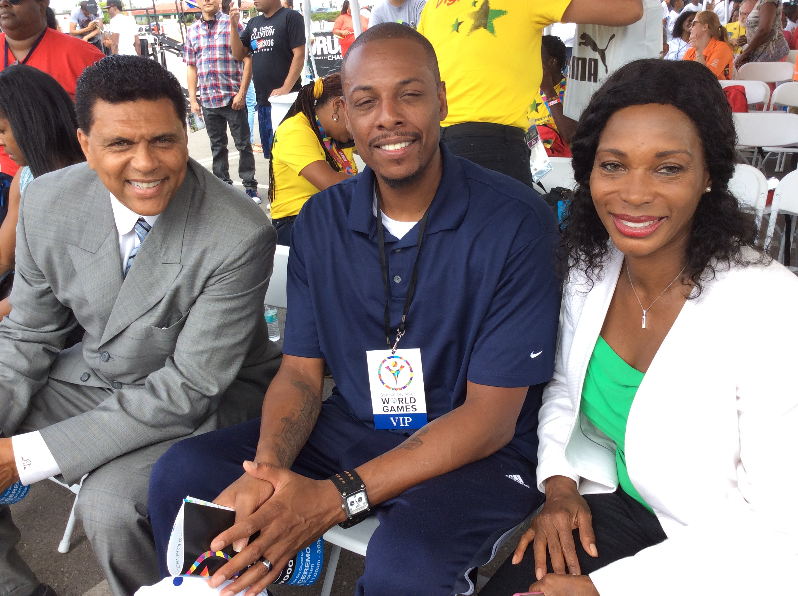 Inglewood Calif Wel es Jamaica s Special Olympics Delegation