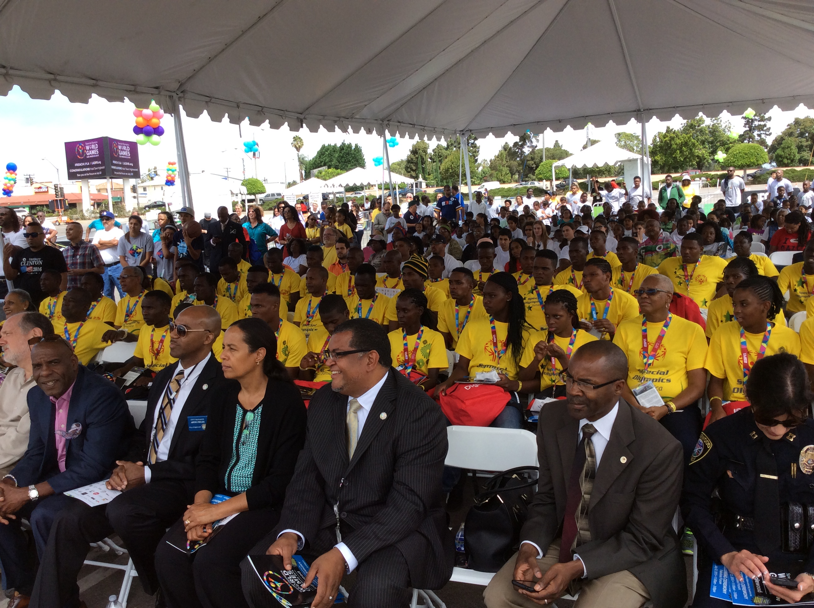 Jamaican contingency to the 2015 Special Olympics World Games in Los Angeles.