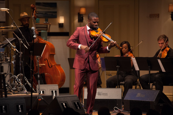 DANGEROUSLY IN LOVE? Shown here with Erynn Hill on Violin (Rear Left) and James Thompson on Viola (Rear Right) Photo by L Wright Photography