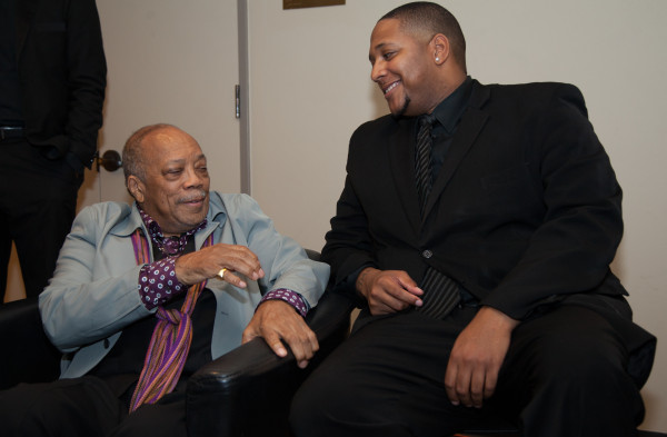 """QUINCY JONES HANGIN' TOUGH: Lee says """"Q"""" hung out upstairs for two hours after the show!"""