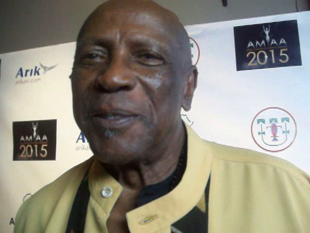 Oscar Award winnning Louis Gossett Jr. attends the 11th annual Africa Movie Academy Awards Nominations Dinner. (Photo Credit: Eunice Moseley)