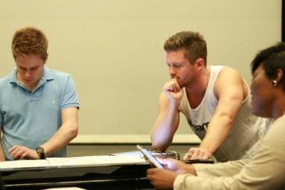 Choreographer Spencer Liff at work with Broadway Dreams faculty