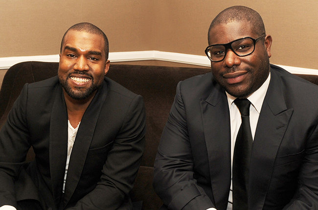 Kanye West (L) and director Steve McQueen during the 17th annual Hollywood Film Awards at The Beverly Hilton Hotel on October 21, 2013 in Beverly Hills