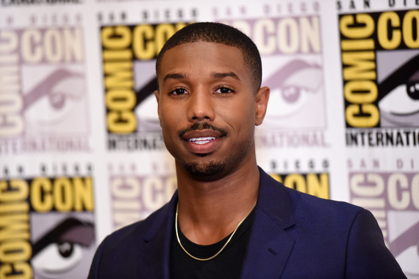 Actor Michael B. Jordan attends the 20th Century Fox press room during Comic-Con International 2015 at the Hilton Bayfront on July 11, 2015 in San Diego, California
