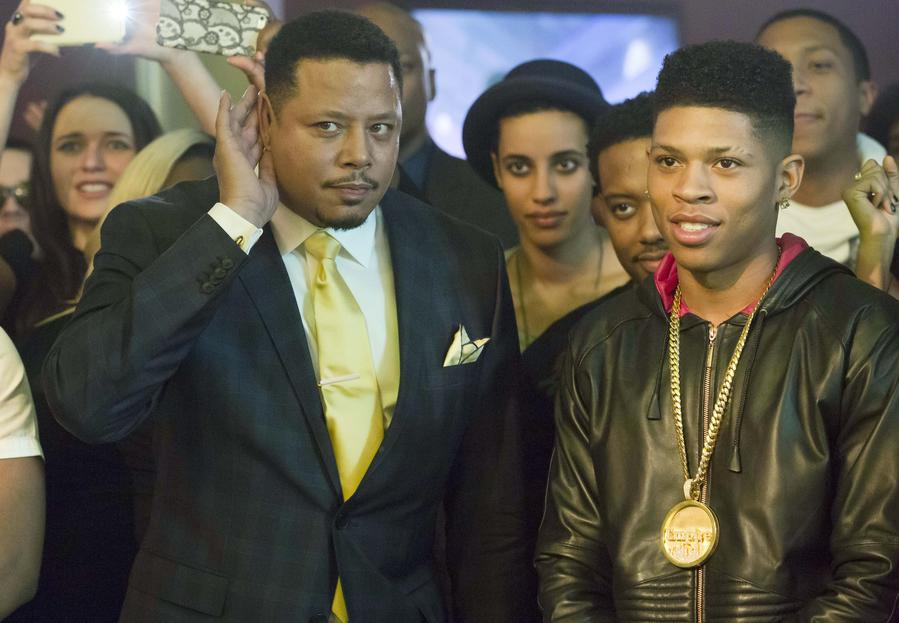 Lucious (Terrence Howard) and Hakeem (Bryshere Gray)