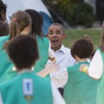 Obama Crashes FLOTUS' Girl Scout Campfire: 'What Are You Doing in My Yard?'