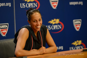 Madison Keys gushes about first round win during press conference. (photo credit: Margot Jordan)