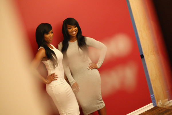 Khadijah Haqq McCray (L) and Malika Haqq of NBC Universal's Dash Dolls attend Behind The Scenes Of The Getty Images Portrait Studio Powered By Samsung Galaxy At 2015 Summer TCA's at The Beverly Hilton Hotel on August 12, 2015