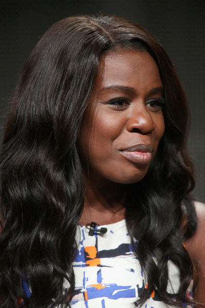"""Actress Uzo Aduba speaks onstage during the """"Orange Is the New Black"""" panel discussion at the Netflix portion of the 2015 Summer TCA Tour at The Beverly Hilton Hotel on July 28, 2015 in Beverly Hills, California."""
