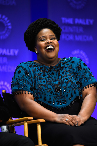 """Actress Amber Riley on stage at The Paley Center For Media's 32nd Annual PALEYFEST LA - """"Glee"""" at Dolby Theatre on March 13, 2015 in Hollywood, California."""