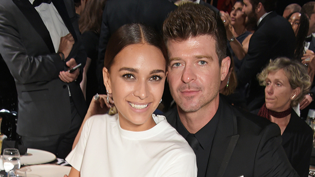 April Geary and Robin Thicke