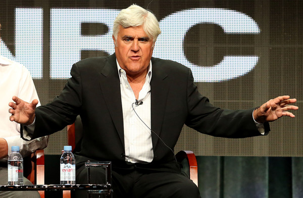 Jay Leno speaks during the 2015 Summer Television Critics Association Press Tour at The Beverly Hilton Hotel on August 13, 2015 in Beverly Hills, California