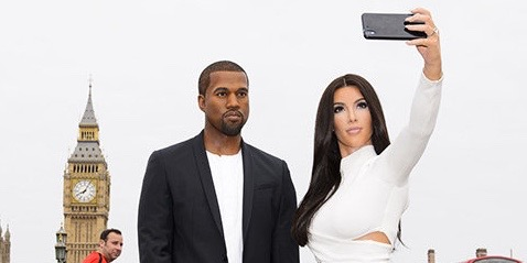 "Visitors around London were stopped in their tracks yesterday as Kim Kardashian and Kanye West posed for selfies at some of the most famous photo hot spots in the Capital. In an exsive social media photo album posted today Madame Tussauds London revealed a unique set of 'holiday snaps' taken by the power couples' wax figures during a special city sightseeing tour to welcome Kayne to town. A brand new wax likeness of ""the greatest living rock star on the planet"" is joining his wife's recently revealed selfie taking figure, but befoclure they were united in Baker Street they visited some other famous locations - much to the delight of fans on the street. The duo were spotted at Big Ben, Buckingham Palace, The Millennium Bridge, Cathedral, The Coca-Cola London Eye, Piccadilly Circus and Tower Bridge taking a variety of selfies together, and with fans, as they went.   Pictured: Kim Kardashian and Kanye West posed for selfies at some of the most famous photo hot spots in the Capital. Ref: SPL1092055  060815   Picture by: Madame Tussauds/Splash News  Splash News and Pictures Los Angeles:310-821-2666 New York:212-619-2666 London:870-934-2666 photodesk@splashnews.com"