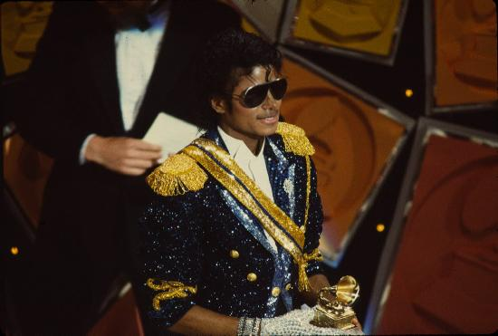 michael jackson with award