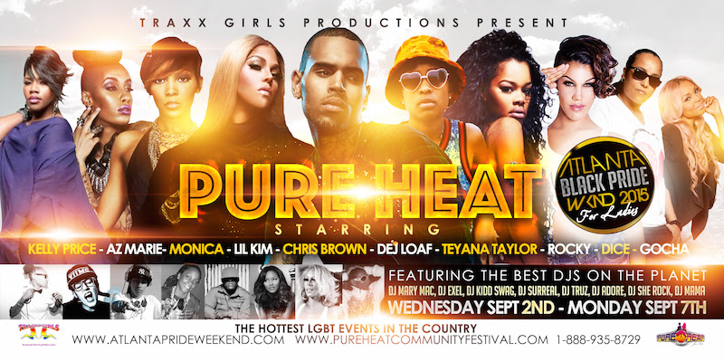pure heat, labor day weekend, gay and lesbian pride