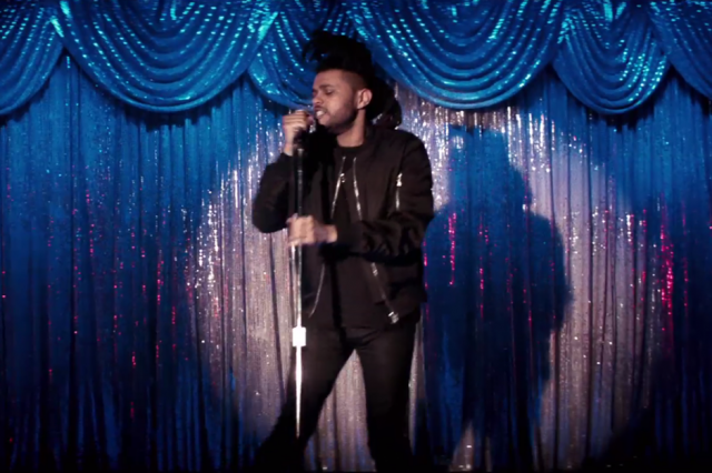 "The Weeknd in the video for ""Can't Feel My Face"""