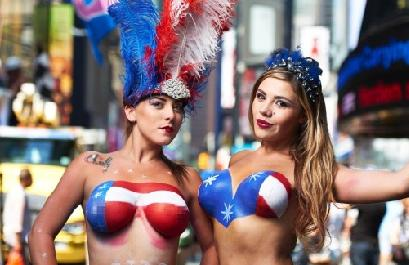 topless performers (in times square1)