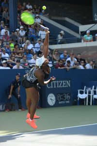 Taylor Townsend in action as Donald Young's mixed doubles partner. (photo credit: Margot Jordan)