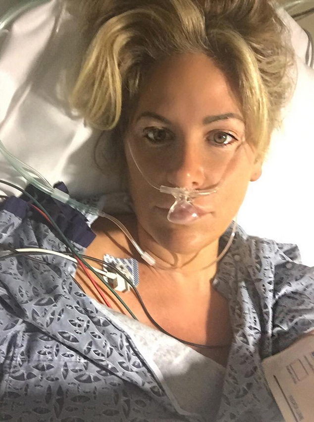 Kim zolciak hospital TIA