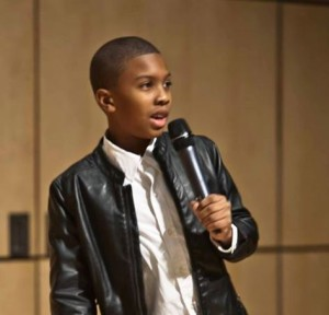 Young actor Anthony Michael Hobbs (Emmy nominated 'The Abolitionist') to be a guest speaker for NFL's Joel Gamble. (Photo Credit: Mark Samuel)
