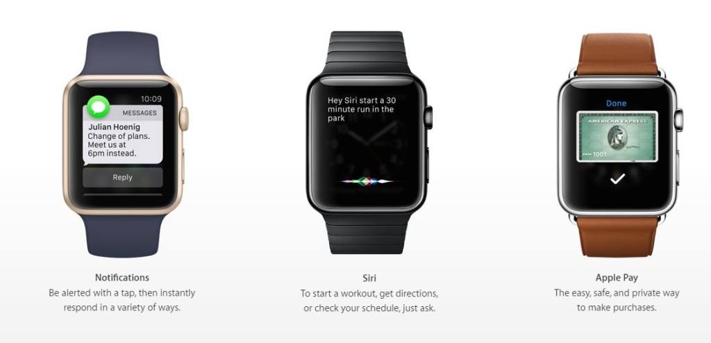 The Apple Watch * Courtesy of Apple.com