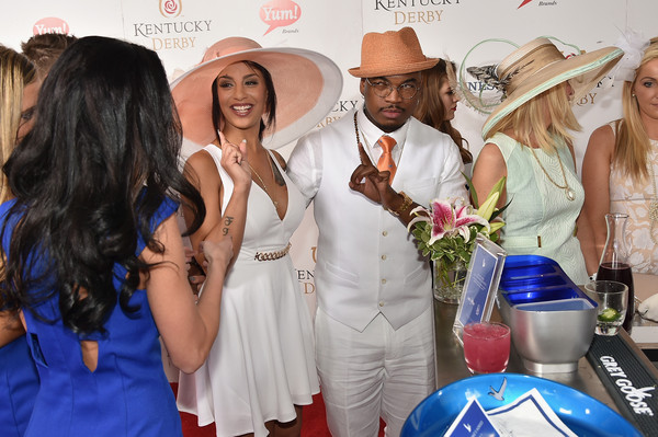 Crystal Renay and Ne-Yo attend the GREY GOOSE Lounge at the 141st running of The Kentucky Derby at Churchill Downs on May 2, 2015 in Louisville, Kentucky. (May 1, 2015 - Source: Theo Wargo/Getty Images North America)