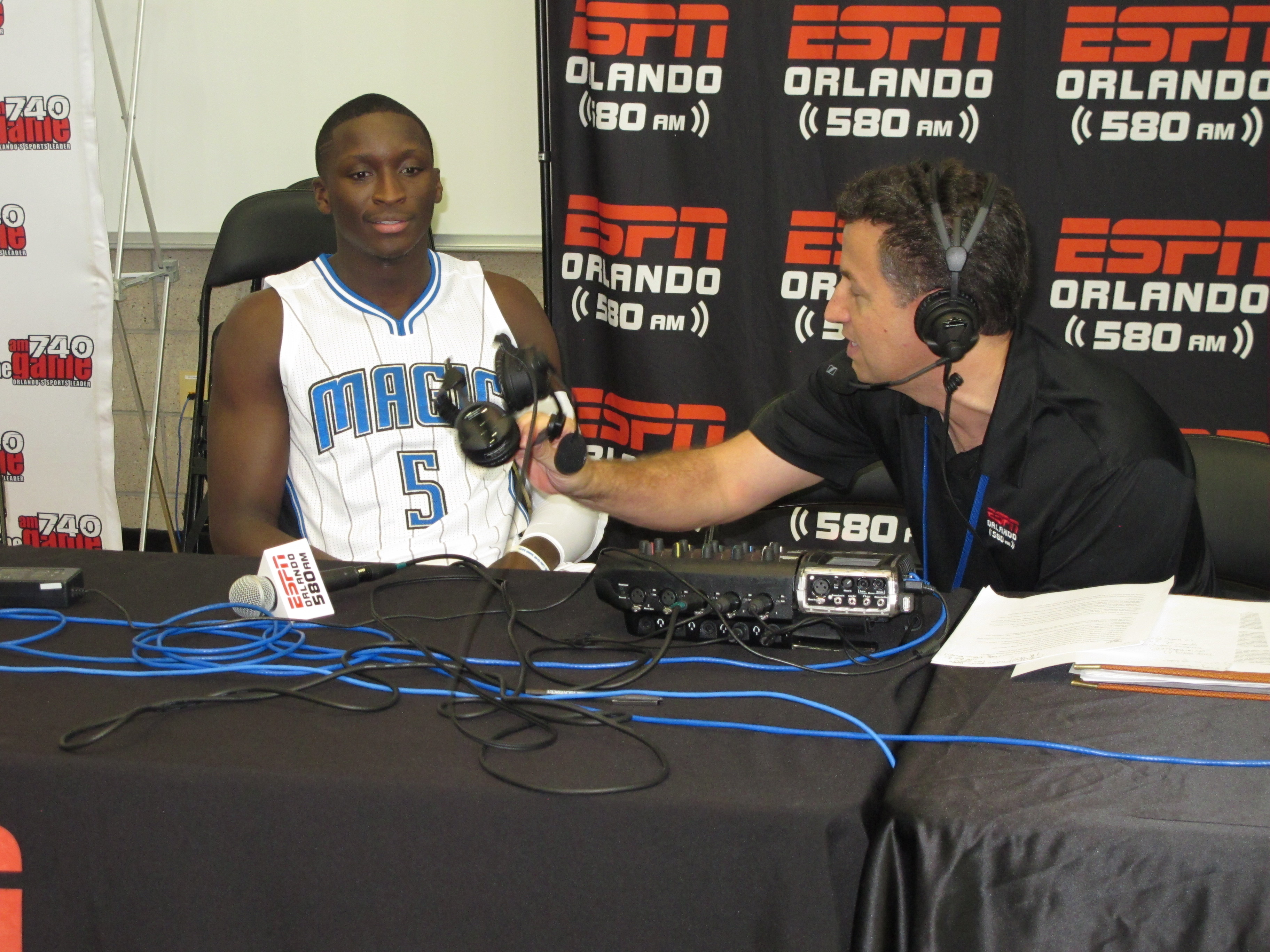 Victor Oladip being interviewed by ESPN