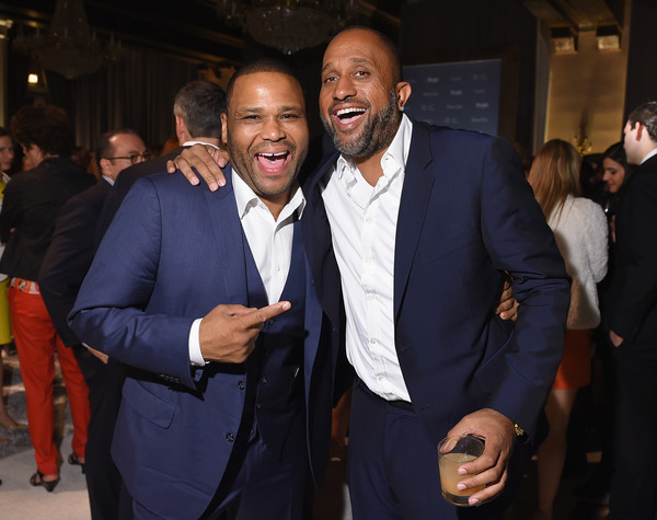 Anthony Anderson and Screenwriter Kenya Barris attend Time and People's annual cocktail party on White House Correspondents' Weekend at St Regis Hotel on April 24, 2015 in Washington, DC. (April 23, 2015 - Source: Michael Loccisano/Getty Images North America)
