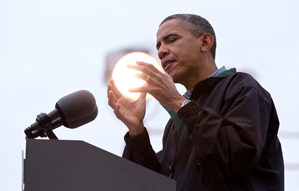 Obama holds the sun