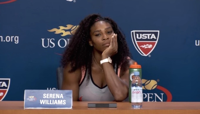 Serena Williams interview on day 9 at US Open 2015 after quarter final win over Venus Williams on the 8th of September 2015 ( 08/09/15 )