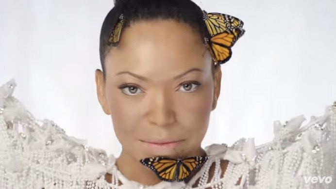 """Tisha Campbell Martin in her video for """"Steel Here"""""""