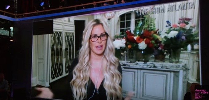 """Kim Zolciak being booted off of """"Dancing With the Stars"""" via Skype"""