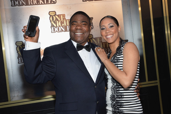 Tracy Morgan and Meghan Wollover.
