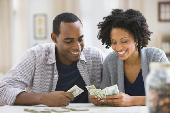 affluent black couple