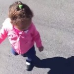 Baby Freaks Out When She Sees Her Own Shadow (Watch)