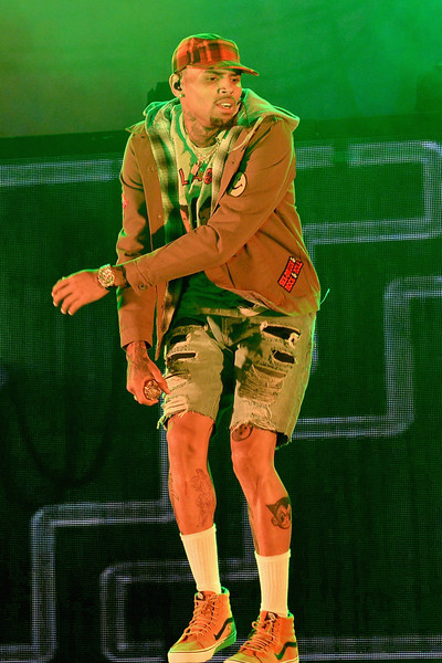 Chris Brown performs at American Airlines Arena on September 3, 2015 in Miami, Florida.