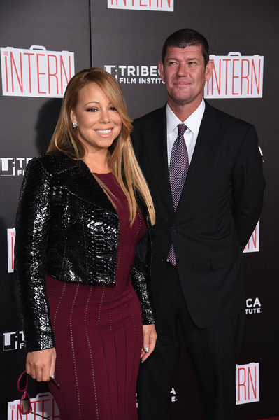 "Mariah Carey and James Packer attend ""The Intern"" New York Premiere at Ziegfeld Theater on September 21, 2015 in New York City"